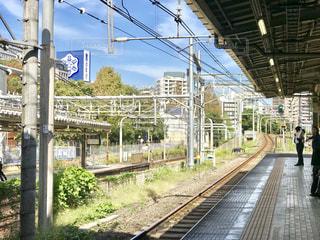 四ツ谷駅で電車を待つ昼下がりの写真・画像素材[1566328]