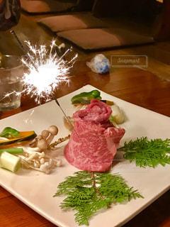 バースディ焼肉の写真・画像素材[1611808]