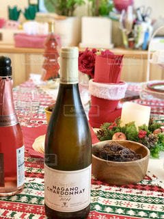 クリスマスパーティーのお酒の写真・画像素材[1660654]