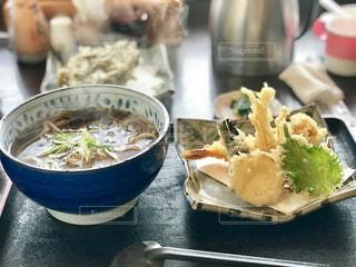 軽井沢で食べた天ぷら蕎麦の写真・画像素材[1694635]