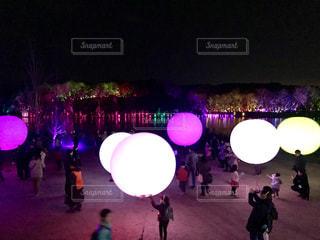メッツァビレッジ チームラボ 森と湖の光の祭の写真・画像素材[1724260]
