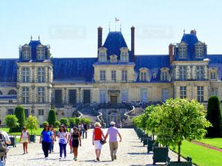 フランスのフォンテーヌブロー宮殿の写真・画像素材[1776632]