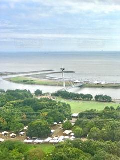 葛西臨海公園の観覧車から水平線を眺めるの写真・画像素材[1855137]