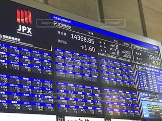 株価の電光掲示板の写真・画像素材[2054455]