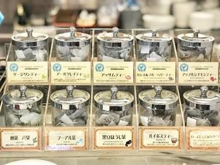 お茶のドリンクバーの写真・画像素材[2285986]