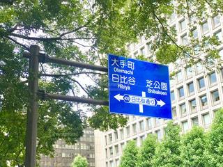 日比谷公園  道路標識の写真・画像素材[2301024]