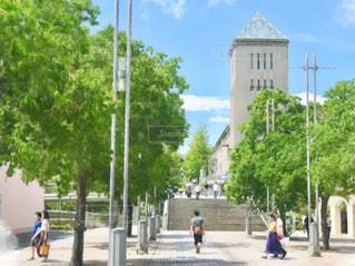 南大沢の大学前の風景を絵画にの写真・画像素材[2319335]