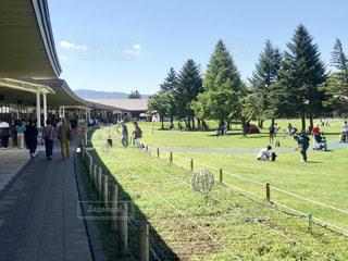 軽井沢のショッピングパークは素晴らしい天気でした。の写真・画像素材[2438507]