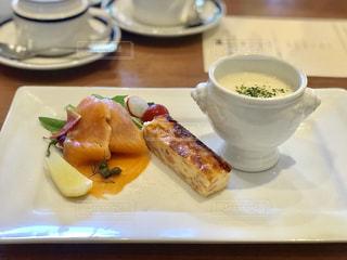 軽井沢のホテルのレストランでランチの写真・画像素材[2438632]