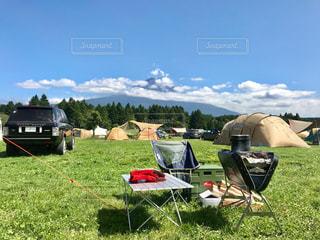 ふもとっぱらでキャンプの写真・画像素材[2442155]