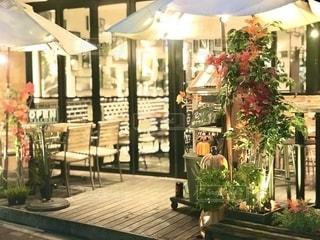 レストラン入り口の照明の写真・画像素材[2646713]
