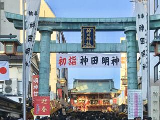 神田明神で初詣。明けましておめでとうございます。の写真・画像素材[2840616]