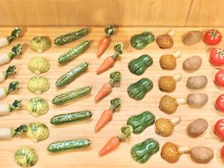 野菜の箸置きがズラリの写真・画像素材[2999249]
