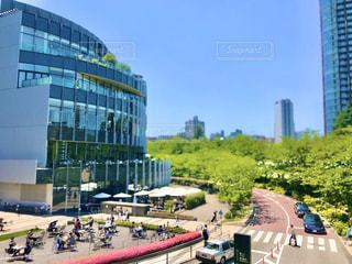 東京ミッドタウンの風景をミニチュア写真風に加工してみました。の写真・画像素材[3007815]