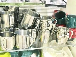 ステンレスマグカップの写真・画像素材[3387218]
