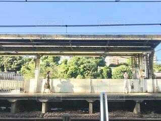 駅の向こう側のホーム  人物に加工を入れて判別できないようにしています。の写真・画像素材[3651063]