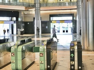東京駅の自動改札 焦点加工で人物が判定されないようにしています。の写真・画像素材[3708471]
