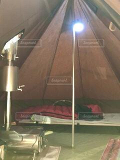 テントの内部の写真・画像素材[3969772]