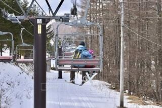 一昨年のスキー場。ちょっと雪が少ないですね。の写真・画像素材[4048798]