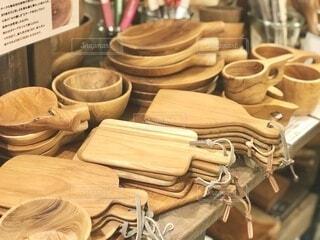 木製のまな板イロイロ。キャンプに重宝します。の写真・画像素材[4148757]