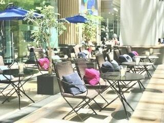 東京ミッドタウンのカフェテラスの写真・画像素材[4167664]