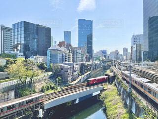 御茶ノ水駅から見る神田川の風景の写真・画像素材[4317559]