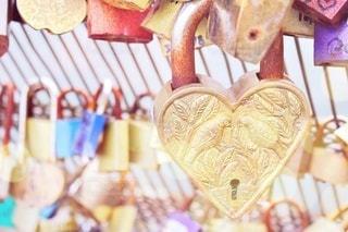 愛の南京錠の写真・画像素材[3232690]