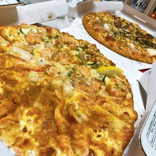 デリバリーピザの写真・画像素材[4372634]