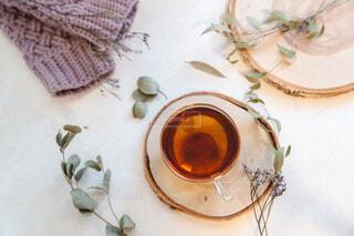 お茶を飲む。リラックスおうち時間。の写真・画像素材[3881154]