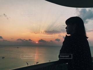 沖縄の夕暮れの写真・画像素材[1111486]