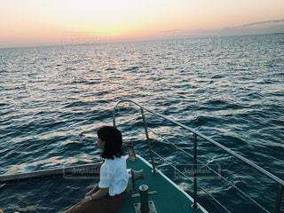 沖縄のサンセットクルーズの写真・画像素材[1111492]