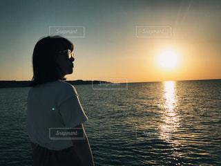 沖縄のサンセットクルーズの写真・画像素材[1111493]