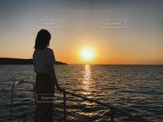 沖縄のサンセットクルーズの写真・画像素材[1111494]