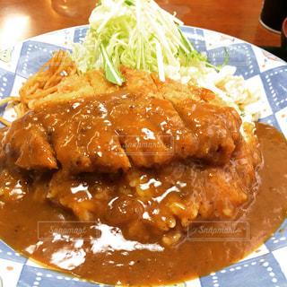 日替わりランチ カツカレー(洋風カツ丼)の写真・画像素材[140001]