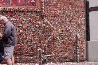 Gum wall @ Seattleの写真・画像素材[1321140]