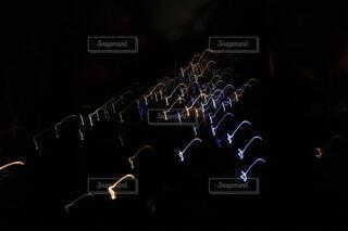 ライトの残像の写真・画像素材[4715923]