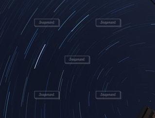 星の軌跡の写真・画像素材[3152321]