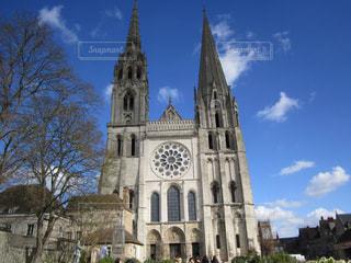 シャルトル大聖堂外観の写真・画像素材[3096532]