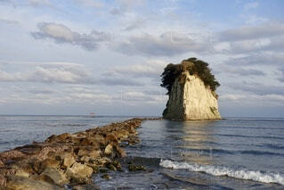 見附島の写真・画像素材[3744637]