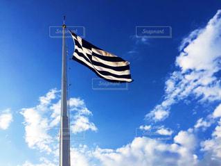 ギリシャ国旗の写真・画像素材[3113477]
