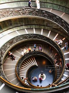 バチカン美術館のらせん階段の写真・画像素材[3113478]