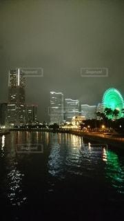 橋から夜景の写真・画像素材[3101225]