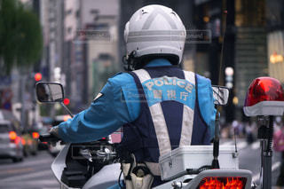 白バイ 交通機動隊の写真・画像素材[3119277]