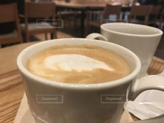 ホットコーヒー カフェラッテの写真・画像素材[3124460]