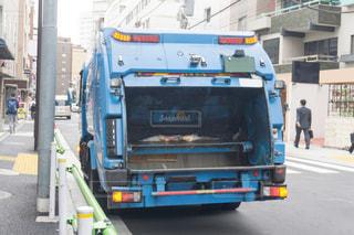 ゴミ収集車の写真・画像素材[3158141]