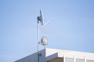 衛星アンテナの写真・画像素材[3313414]