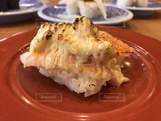 チーズ炙りエビ寿司の写真・画像素材[3337428]