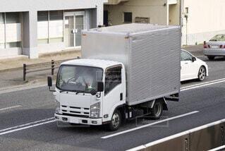 箱トラック 輸送トラックの写真・画像素材[3619715]
