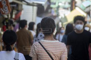 マスク着用の人々 観光地の写真・画像素材[3988376]
