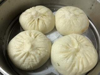 蒸し中華肉饅頭の写真・画像素材[4035014]